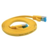 六类千兆网络跳线-黄色金属头