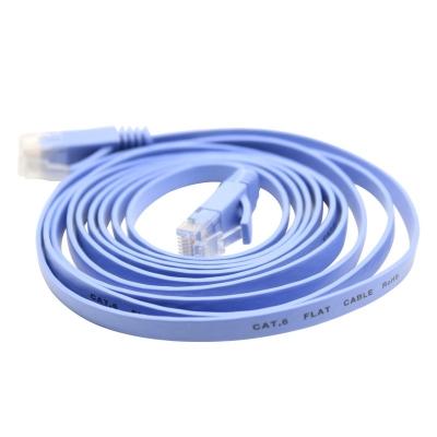 六类千兆网络跳线-蓝色塑料头